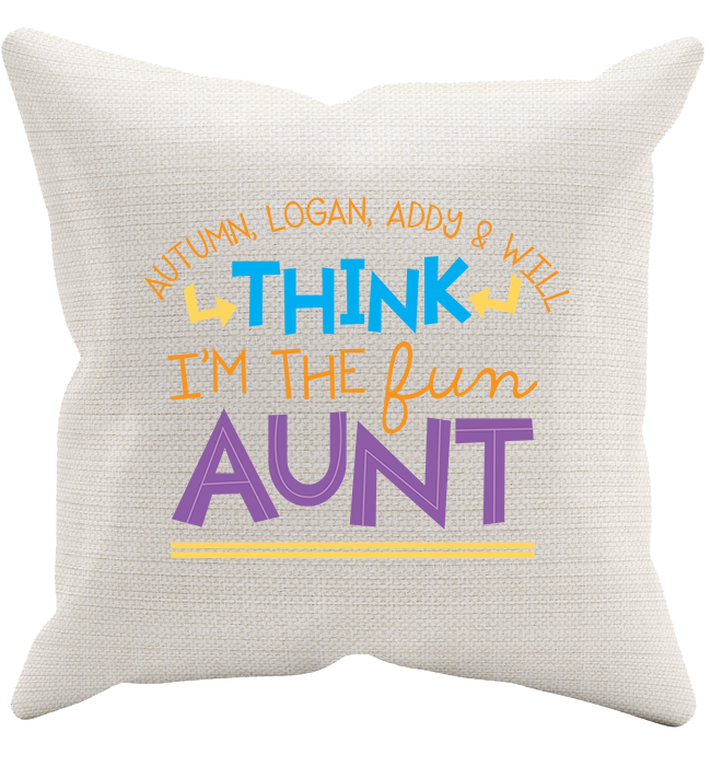 Personalized Aunt's 1 Pillowcase - Kensleys