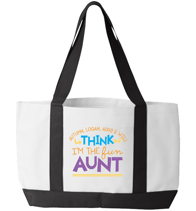 Personalized Aunt's 1 Totebag - Kensleys
