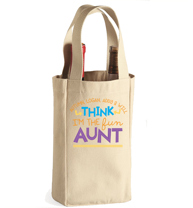Personalized Aunt's 1 Winebag - Kensleys