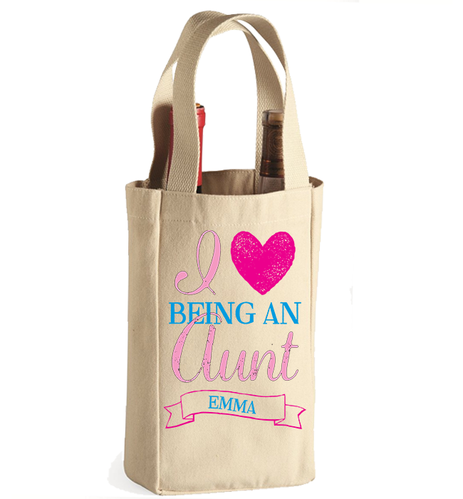 Personalized Aunt's 3 Winebag - Kensleys