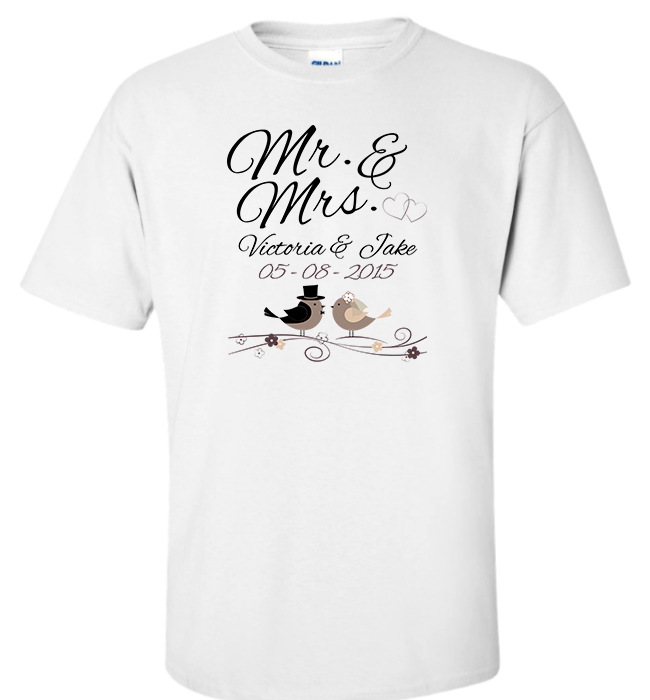 Personalized Mr Mrs Apparel - Kensleys - 5