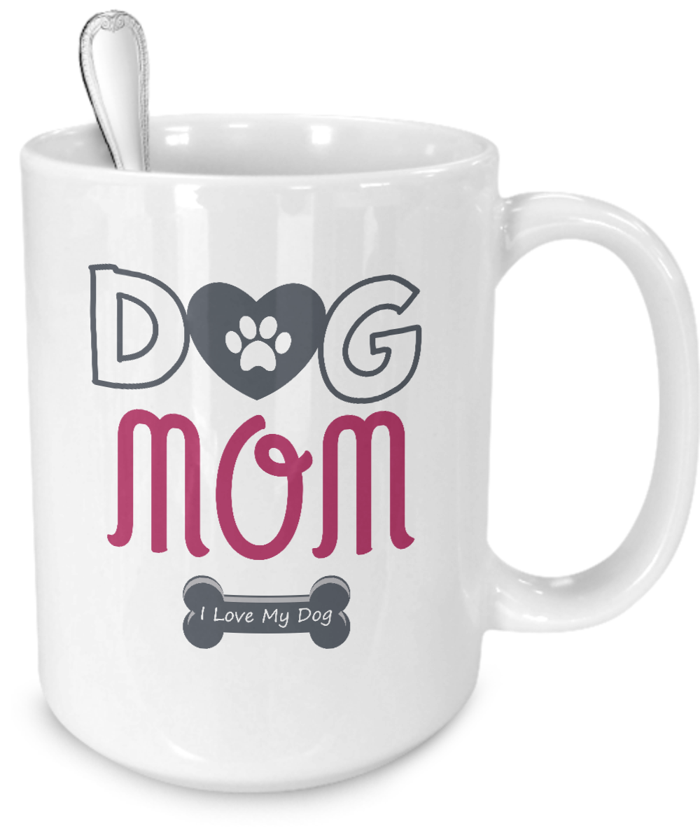 Dog Mom - I Love My Dog  Mug - Kensleys - 4