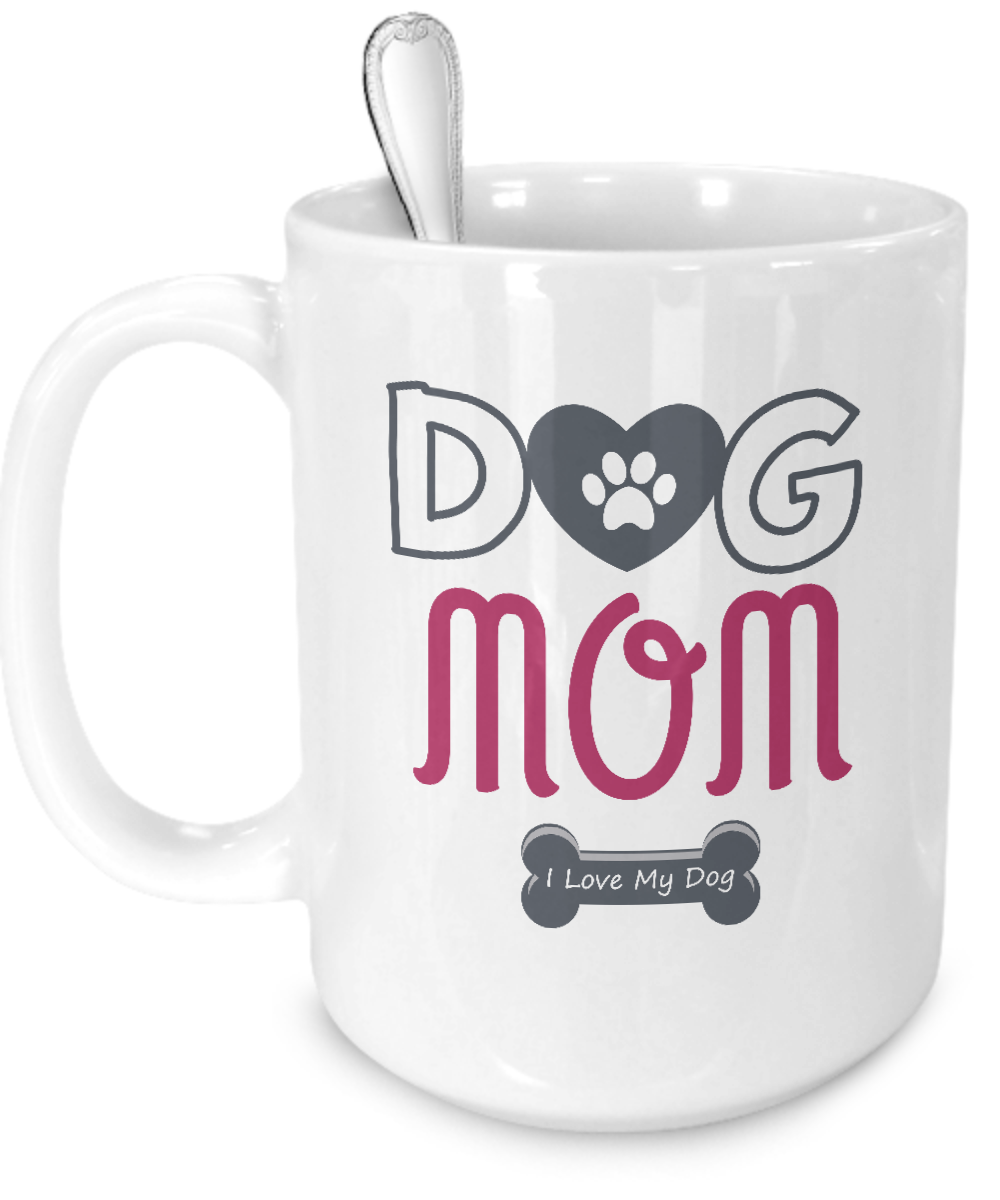 Dog Mom - I Love My Dog  Mug - Kensleys - 3