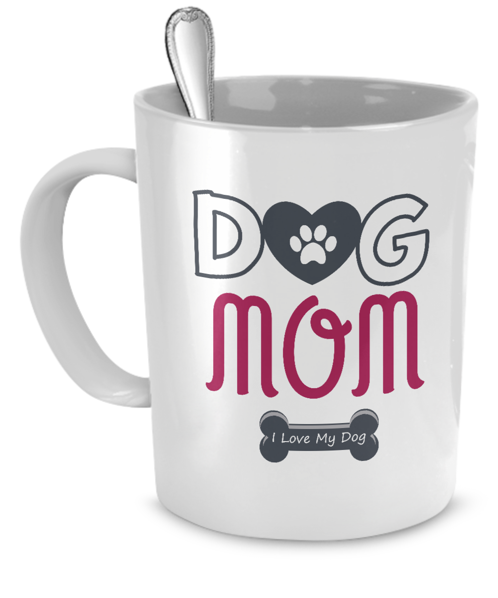 Dog Mom - I Love My Dog  Mug - Kensleys - 1