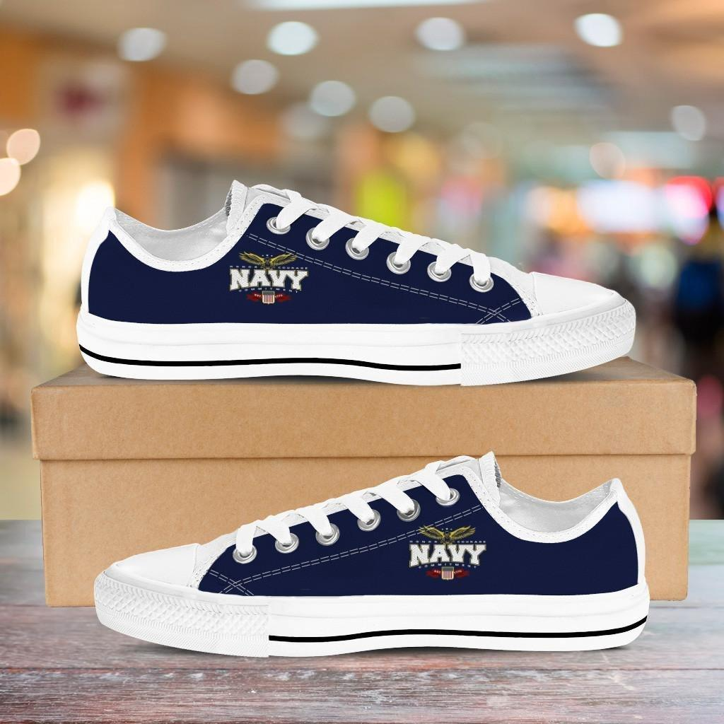 Navy Low Cuts