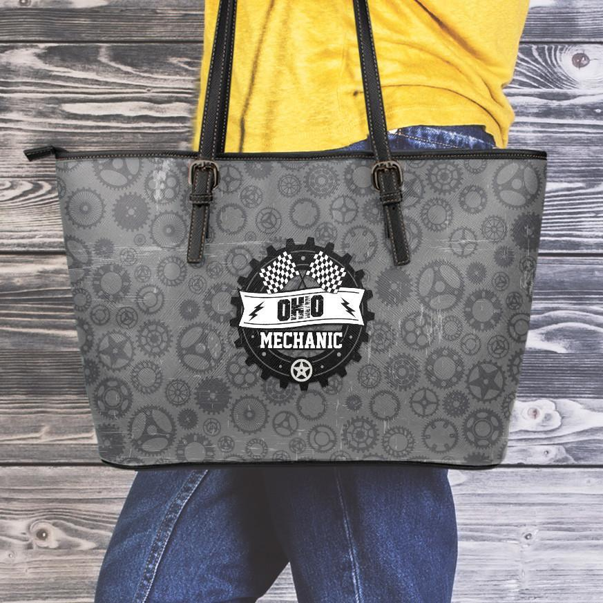 OH Mechanic Large Leather Tote Bag
