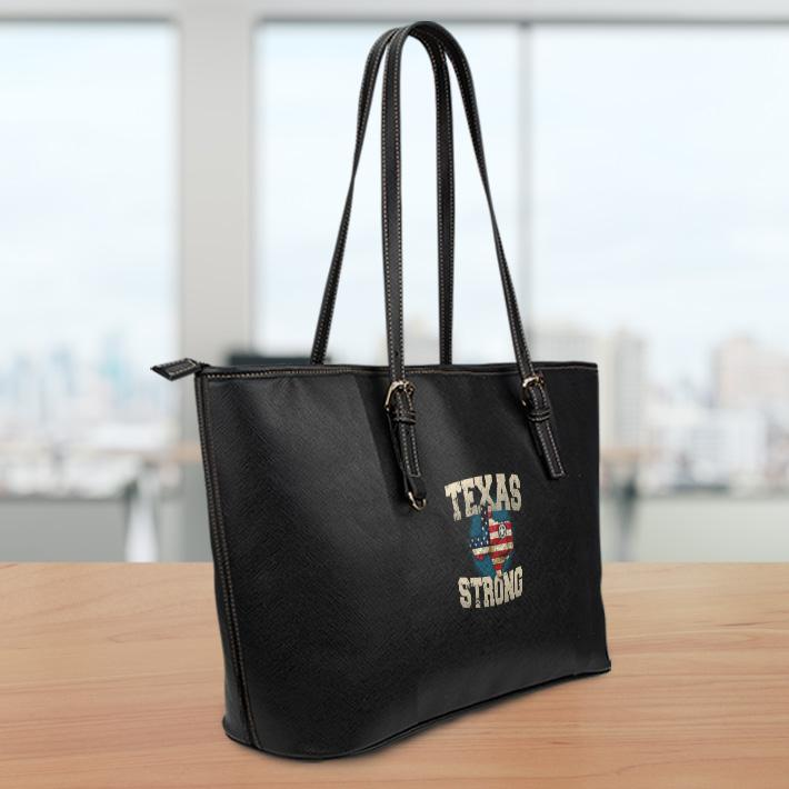 Texas Strong Lg Leather Tote