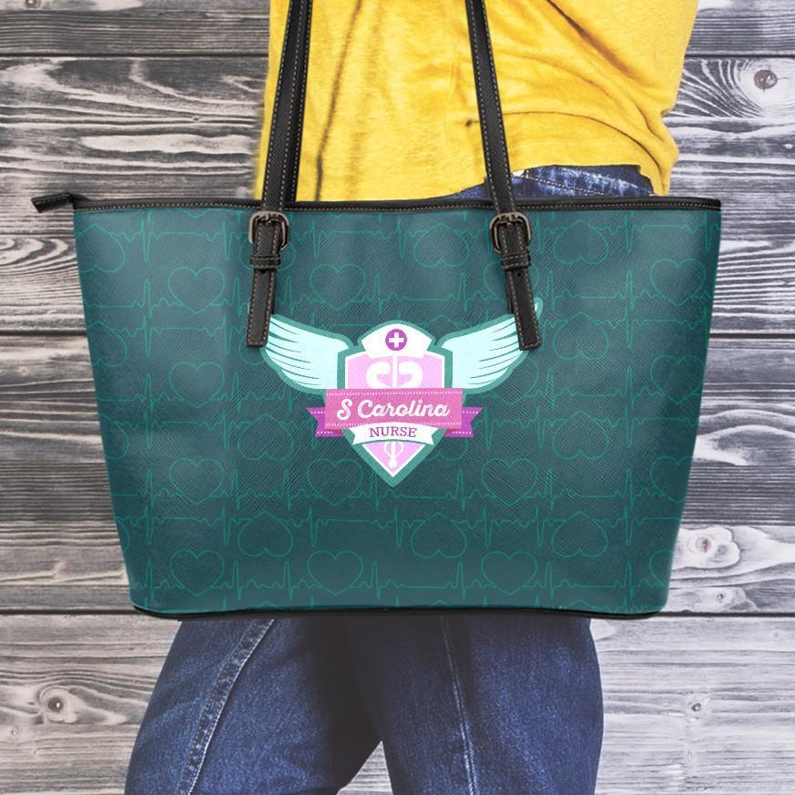 SC Nurse Small Leather Tote Bag