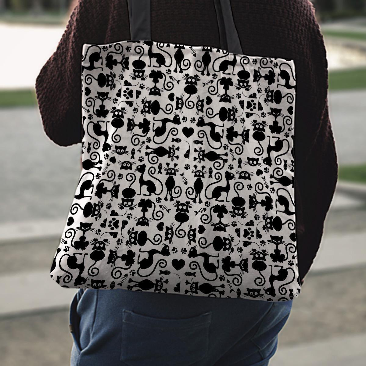 Cats White Tote Bag