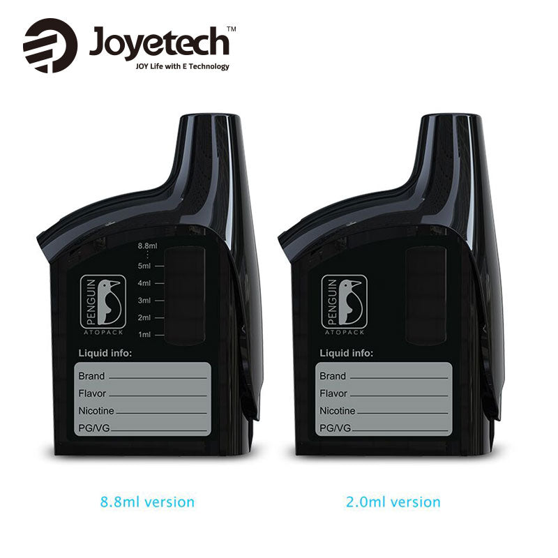 Original Joyetech Atopack Penguin Unit 8.8ml/2ml with JVIC Head Coil 0.25ohm/0.6ohm for E Cigarette ATOPACK Penguin Vape Kit