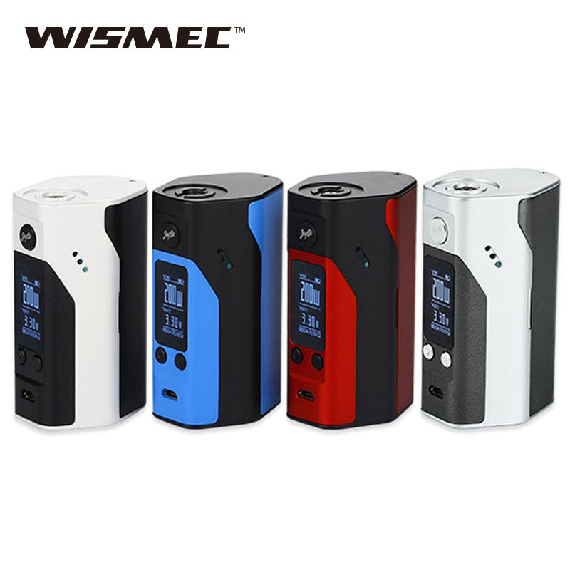 100% Original Wismec Reuleaux RX200S TC Mod 200W powered by 3x18650 batteries OLED Screen Vape Box Mod Rx200S vs alien Mod 220W