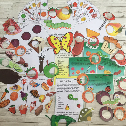 Early Years, EYFS , Ofsted, Development, Improvemment, Nursery, Childminder , The Hungry Caterpillar Resource Pack