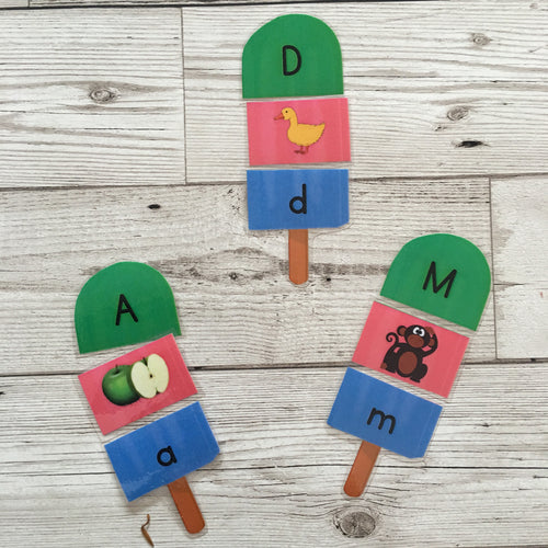 Alphabet Ice Lollies