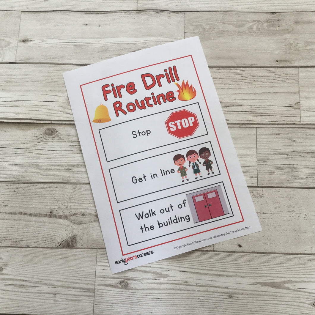 Fire Drill Visual Aid