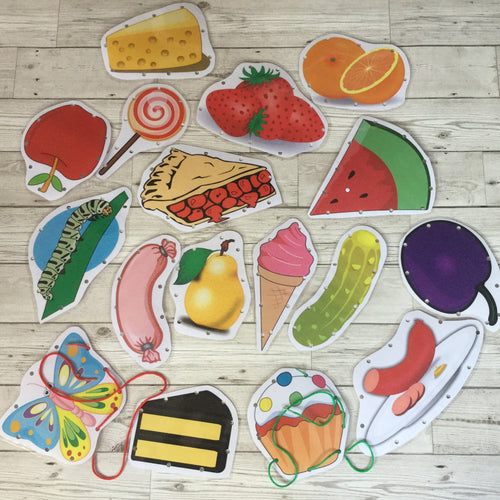 Early Years, EYFS , Ofsted, Development, Improvemment, Nursery, Childminder , The Hungry Caterpillar Threading Cards