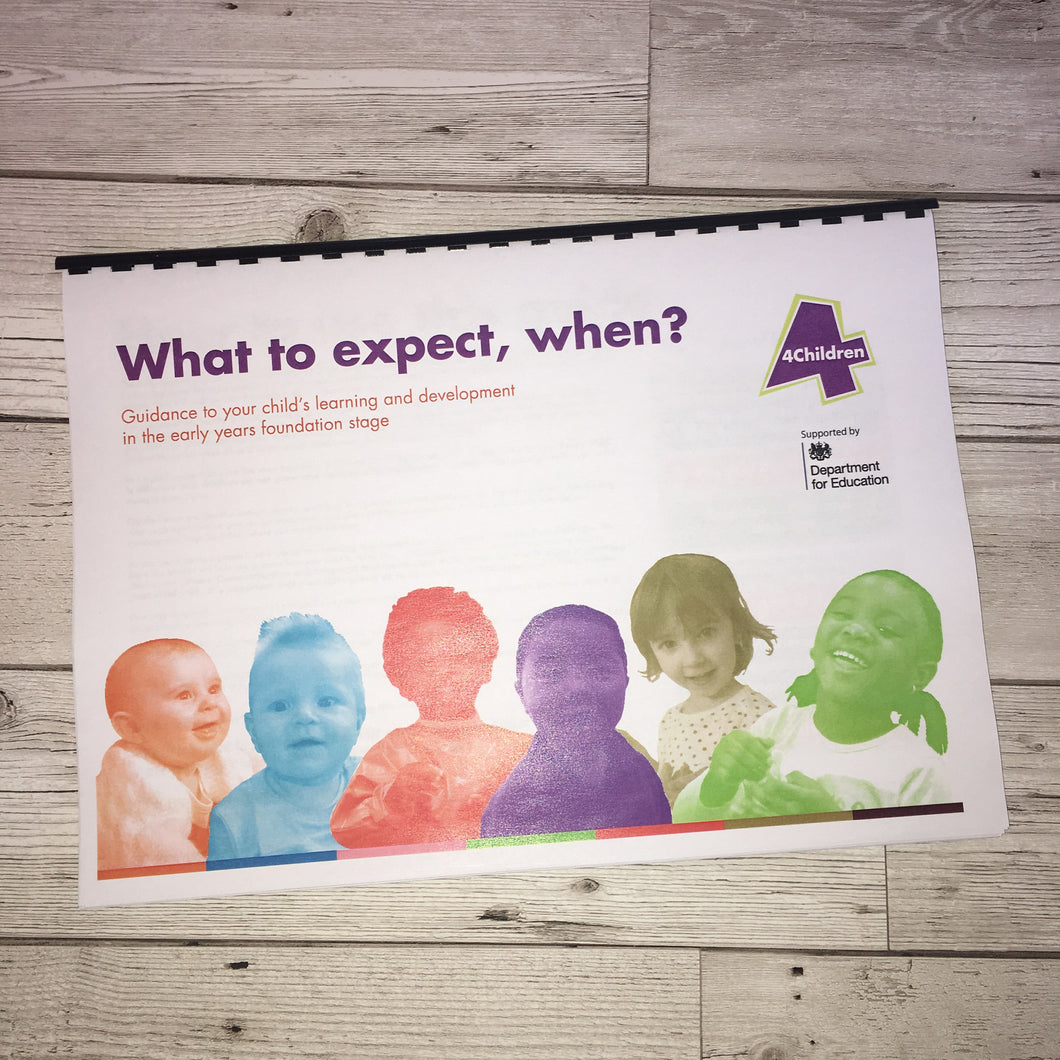 Early Years, EYFS , Ofsted, Development, Improvemment, Nursery, Childminder ,  What to expect when? Parent Guide
