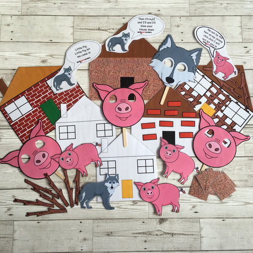 Early Years, EYFS , Ofsted, Development, Improvemment, Nursery, Childminder , The Three Little Pigs Story Sack
