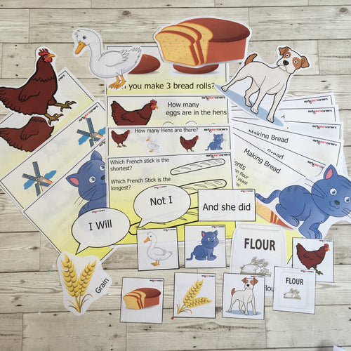 Early Years, EYFS , Ofsted, Development, Improvemment, Nursery, Childminder , The Little Red Hen Story Sack Resources