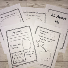 All about me school readiness booklet