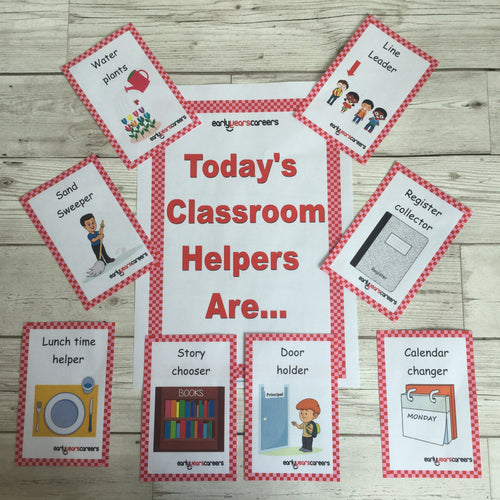 Early Years, EYFS , Ofstead, Development, Improvemment, Nursery, Childminder , Classroom Helper Cards, Helper