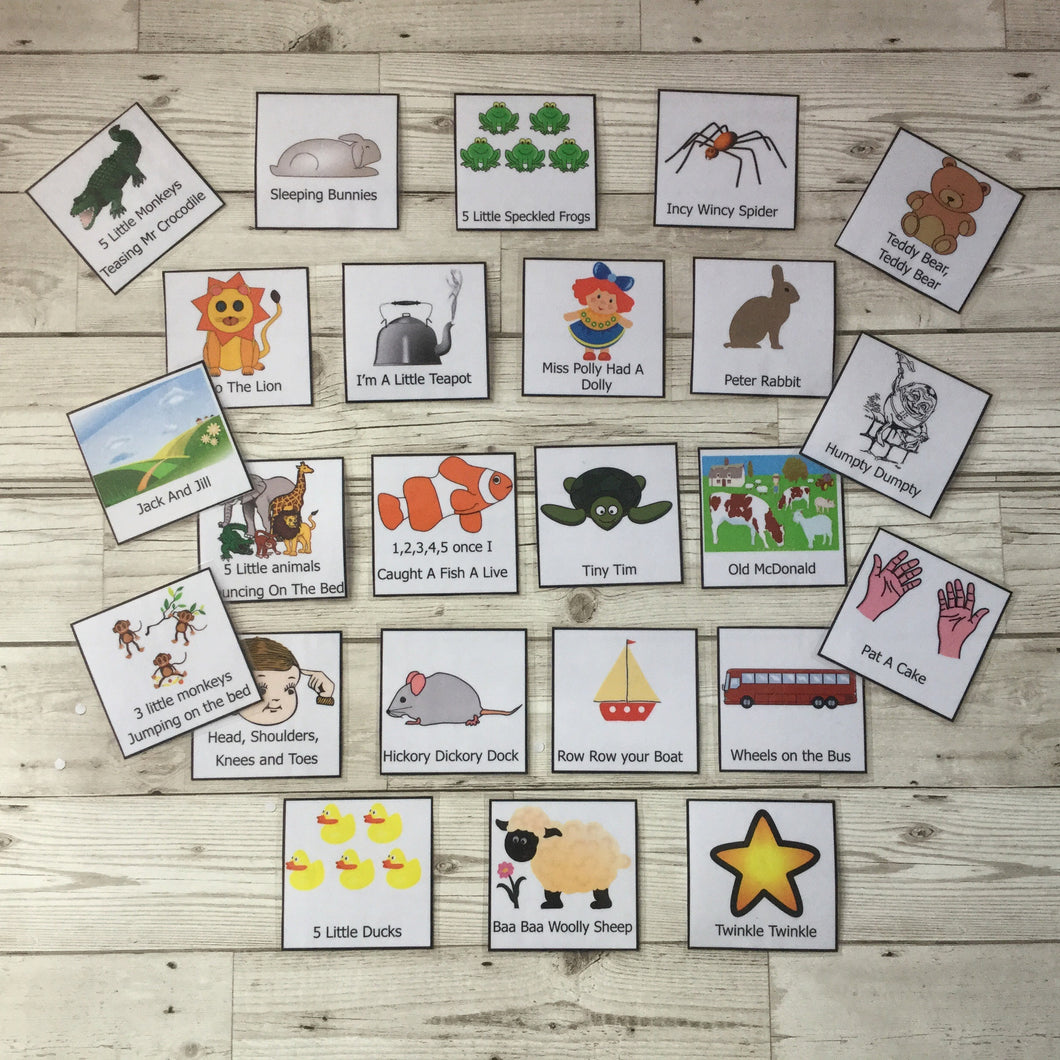 Early Years, EYFS , Ofsted, Development, Improvemment, Nursery, Childminder , Nursery Rhyme Cards