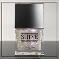 Oh My Stars and Garters - Iridescent Purple, Gold, Green and Silver Nail Polish Top Coat - SHINE Nail Polish