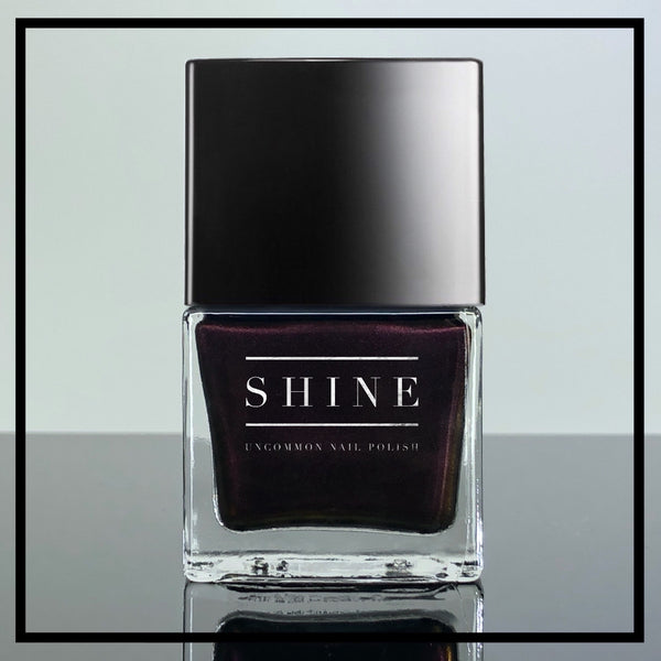 Diabolique - Rich Creamy Ebony Black with Slight Multichromatic Shifts of Deep Purple, Red and Gold - SHINE Nail Polish