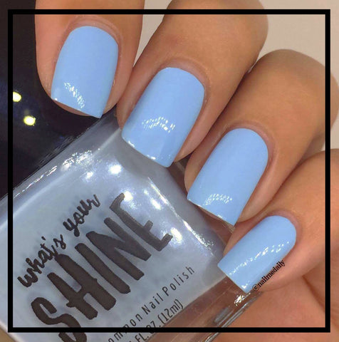 Not a Cloud INDIE Sky Pastel Blue Creme Indie Nail Polish ...