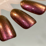 EYEGASM - Rich Burgundy Loaded with a Variety of Sparkling Red, Orange and Gold Micro Glitters