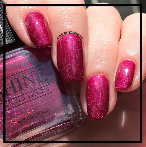Ruby Slippers Deep Red Purple Holographic Glitter Nail Polish ...