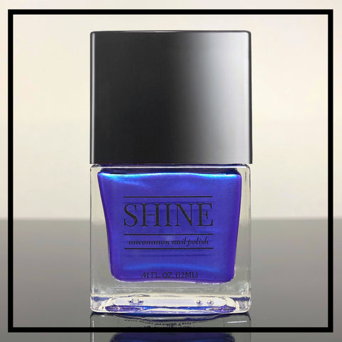 Mermaid My Day Shimmering Deep Blue Nail Polish - SHINE Nail Polish