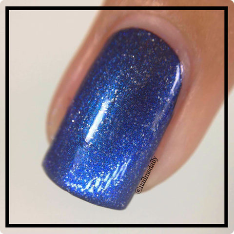 Midnight in Paradise Shimmering Steel Blue Nail Polish – SHINE Nail ...