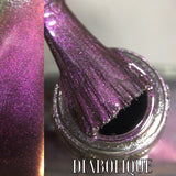 Diabolique - Rich Creamy Ebony Black with Slight Multichromatic Shifts of Deep Purple, Red and Gold