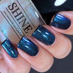 Divine - Glistening Ultramarine ColorShifting Nail Polish Top Coat.