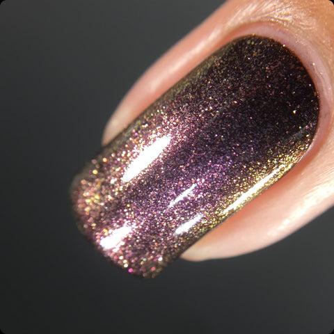 Fire-Twerks - Red, Gold, Copper Color Shifting Nail Polish Top Coat