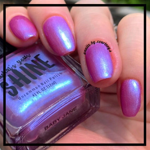 Baby Jane Iridescent Shimmering Pink Indie Nail Polish