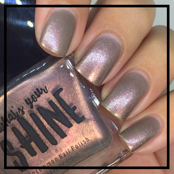 Can't Put My Finger on it - Holographic Iridescent Color Shifting Copper Indie Nail Polish - SHINE Nail Polish