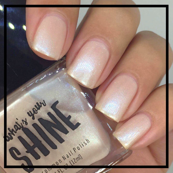 BLONDIE - Champagne Nude Holographic Color Shifting Nail Polish - SHINE Nail Polish