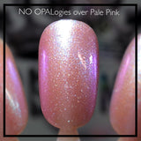 NO OPALogies - Pink, Green, Blue, Red Iridescent Opal Nail Polish Top Coat - SHINE Nail Polish