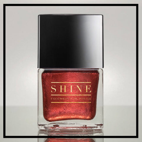 Embers - Burnt Orange/Red base with Shimmering Gold/ Orange/Red Color Shifting Pigment Nail Polish