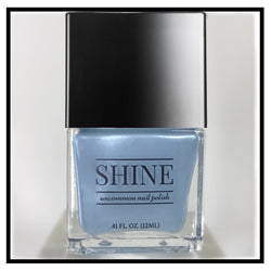 Kept His Shirt Shimmering Blue Nail Polish - SHINE Nail Polish
