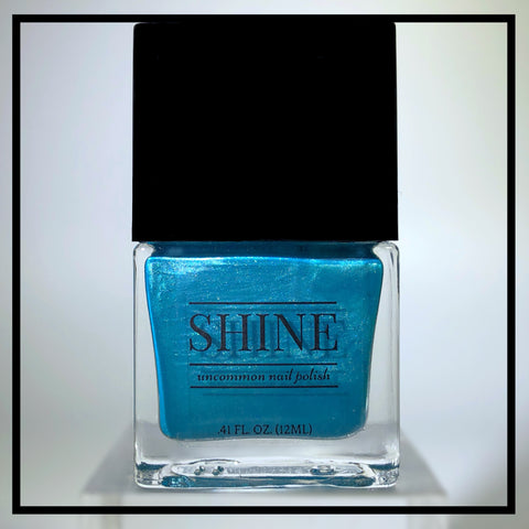 Sea-Foaming at the Mouth - Shimmering Teal Nail Polish - SHINE Nail Polish