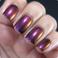 Galactic Plane - Violet, Red, Orange and Green Multichrome Color Shifting Nail Polish - SHINE Nail Polish