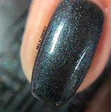 White Rabbit Holographic Black/Blue Indie Nail Polish - SHINE Nail Polish
