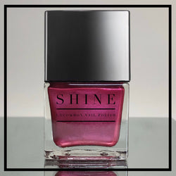 Scarlette Letter Royal Red/Purple Shimmering Nail Polish - SHINE Nail Polish
