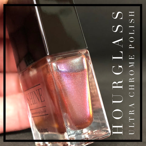Hourglass - Multichrome / Duochrome Cyan/Red/Blue Sparks Color Shifting Nail Polish - SHINE Nail Polish