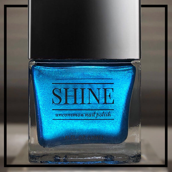 Abyss Electric Teal/Blue Shimmering Iridescent Glitter Indie Nail Polish - SHINE Nail Polish