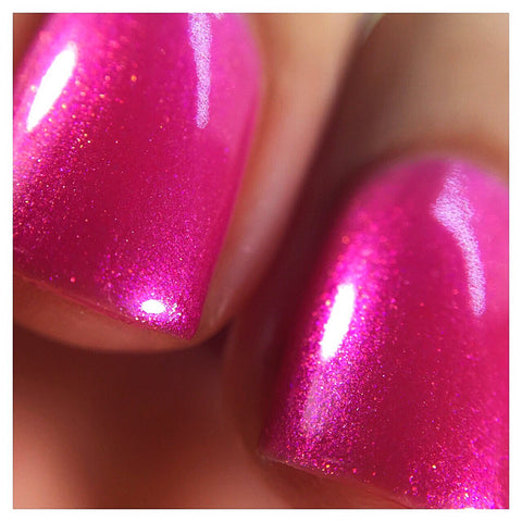 Who's Your Momma Now - Hot Pink Color Shifting Fuchsia Indie Nail Polish
