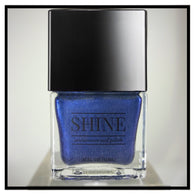 Midnight in Paradise Shimmering Steel Blue Nail Polish - SHINE Nail Polish
