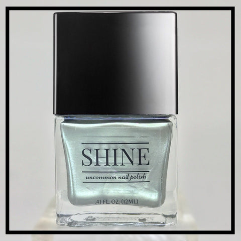 G.I. JANE Muted Gray Green Shimmering Nail Polish - SHINE Nail Polish